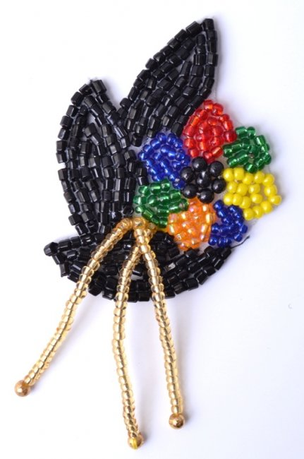 Multi-color flower design, balls and beads