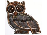 Owl design, beads and spangles