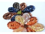 Flower design beads and spangles