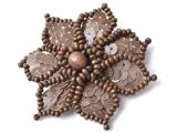Fancy brooch wood and spangles