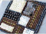 Square design, beads and spangles